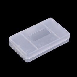 Wholesale Game Card Cartridge Case - Hard Clear Plastic Case Transparent Game Cartridge Cases Storage Box Protector for GameBoy Advance GBA Cards Cartridge DHL FEDEX SHIPPING