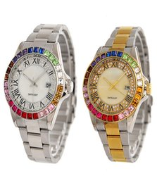 Wholesale Ladies Watches Roman Numerals - 2017 Hot New brands High Quality Luxury sapphire Crystal Rhinestones Ladies Diamonds Watches womens Roman numerals Automatic stainless steel
