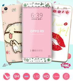 iphone coloré verre trempé protecteur Promotion Front and Back Protecteur d'écran imprimé coloré Verre trempé Pour iphone 7 iphone 6 plus Samsung Huawei avec paquet
