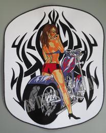 Argentina 11.4 pulgadas grandes parches bordados para chaqueta chaleco trasero motocicleta Biker coser en dama sexy Suministro