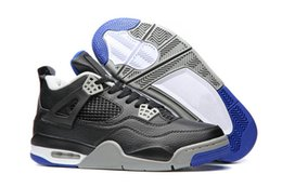 Wholesale Winter Footwear For Men - men basketball shoes air retro 4 alternate motorsport man 4s sports shoe running sneakers for mens athletic footwear high quality with box