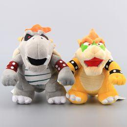"Wholesale Super Mario Bowser Toys - Hot Sale 9.8"" 25cm Super Mario Bowser Koopa & Gray Bones Bowser Koopa Plush Toy Stuffed Animals Soft Dolls Children Gift"