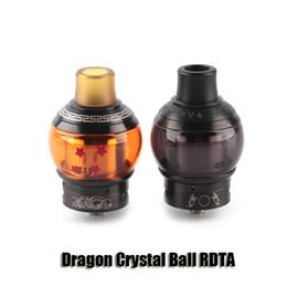 Wholesale Dragon Atomizer - 100% Original Fumytech Dragon Crystal Ball RDTA Tank 24mm Diameter Top Filling Airflow Control Atomizer For 510 Thread Box Mod