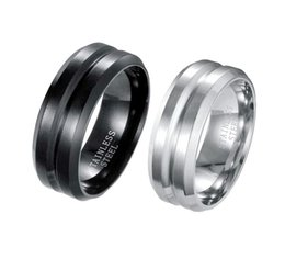 Wholesale Cheap Titanium Wedding Bands - B021 Hot style cheap Euramerican Hot Selling style Plating titanium steel stainless steel couple rings