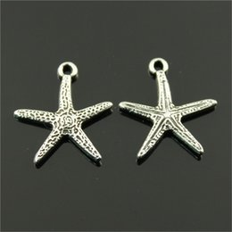Wholesale Wholesale Guys Jewelry - Come on Guys 98pcs starfish Charms Pandora Antique Silver Alloy Jewelry Fit For Bracelet Pendant Necklace Man&Woman 20*18mm