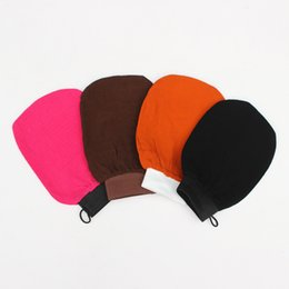tanning mitts Promo Codes - Free shipping morocco hammam scrub mitt magic peeling glove exfoliating tan removal mitt shower gloves (normal coarse feeling)
