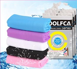 Wholesale Pink Hand Towels - Cooling Down Cool Towel Magical Magic Ice Towels Monochrome Washcloth For Sports Colorful Light Cold Facecloth Creative Practical 4 5kf