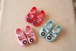 Wholesale Cattle Leather Shoes - 2016 Jelly shoes mini sed New children jelly sandals For Baby Summer Sandals cow cattle Toddler Kids shoes PVC size 24-29