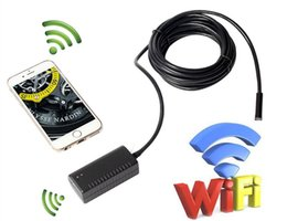 Wholesale Iphone Metre - 2 metres length Waterproof LED Wireless WiFi Endoscope Video Inspection Camera Support for Iphone, Android Phone Tablet WiFI Borescope PQ104