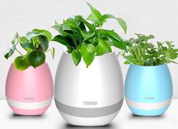 Wholesale Docking Music - 2017 New TOKQI Bluetoth Smart Touch Music Flowerpots Plant Piano Music Playing Wireless Flowerpot Flower pots no plants