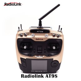 Wholesale Rc Boat Upgrades - Wholesale- Radiolink AT9 Upgraded Version AT9S Transmitter 2.4Ghz 10CH Remote Control System with R9DS Receiver for RC Drone Boat Free Sh
