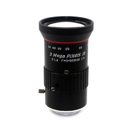 Wholesale Cctv Lens Cs Mount - 3.0Megapixel Varifocal HD CCTV Camera ITS Lens 5-50mm CS Mount With Manual iris F1.4 For IP Camera