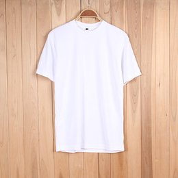 Wholesale Spun Polyester Fabric - Men's quick-dry mesh fabric breathable sports short-sleeved T-shirt cultural shirt blank tee sport badmiton outdoor training cycling soccer