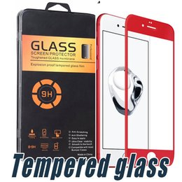 Wholesale Cover Iphone Film 3d - 3D Full Screen Cover Tempered Glass Soft Edge Color Screen Protector Film For iPhone X 8 7 6 6S Plus