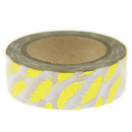 Wholesale Foil Japanese - Wholesale- 2016 Feather Foil Washi Tape Set Japanese Stationery Scrapbooking Decorative Tapes Adhesive Tape Kawai Adesiva Decorativa