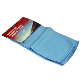 pack en gros Promotion Vente en gros- 2 Pcs / Pack Auto Shine microfibre verre nettoyage serviettes en acier inoxydable polissage brillance chiffon fenêtre pare-brise tissu
