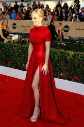 Aline robes de soirée en Ligne-Dos dos Aline Rouge 12y Celebrity Dress 2019 col haut filles enceintes robes de bal formelles designer plus la taille haute haute fée soirée