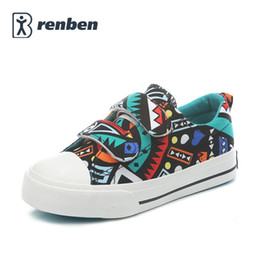 Wholesale Girls Doodles - Kids Shoes for Girl Children Canvas Shoes 2017 Spring Autumn NEW Fashion Doodle Kids Girls Shoes Casual Children