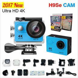 Wholesale Used Pro Video Cameras - New !H9se Ultra Full HD WiFi 1080P 2.0 LCD Sport DV Video h9 4K Action Cameras Underwater Helmet Cam waterproof SJ 4000 pro styl