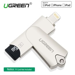 Wholesale Micro Usb Cardreader - Ugreen MFi Lightning Micro SD TF OTG Card Reader USB 2.0 Memory Mini Cardreader for iPhone 6 6s 7Plus iPod iPad OTG Card Reader