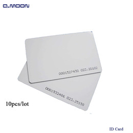 Wholesale Card Access - standard size ID card sensitivity RFID 125khz access control factory company staff pvc card for reader 64bit
