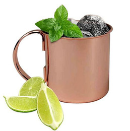 rose mugs wholesale Coupons - Popular rose gold Mint Julep mug stainless steel Moscow mule mug cocktail cup bar drinking tools
