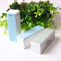 Wholesale Beauty Buffer - 2Pcs Lot 4 ways Sanding Shine Nail Buffer Blocks Pedicure Manicure Care Four sides Polishing Buffing Beauty DIY Acrylic Nail Files Art Tools