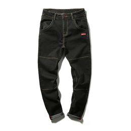 Wholesale Korean Jeans Pants For Men - Wholesale- Men Jeans 2016 Black Elastic Skinny for Men Harem Trousers Plus Size Men 29-42 Ripped Jeans Korean Slim Jeans 501