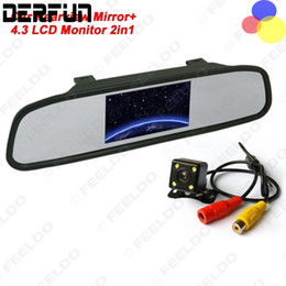 Wholesale Rear Vision Mirror Reverse Camera - HD Video Auto Parking Monitor 4.3 inch Car Rearview Mirror Monitor with LED Night Vision Reversing CCD Car Rear View Camera