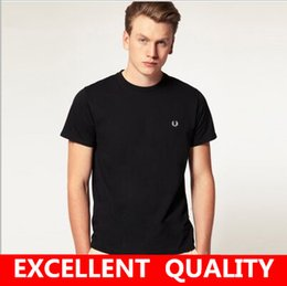 Wholesale T Shirt Branding Logo - Summer New Fashion Brand Clothing Tshirt Men Brand LOGO Print Black Slim Fit Short Sleeve T Shirt Men Cotton Mandarin Collar Casual T-Shirts