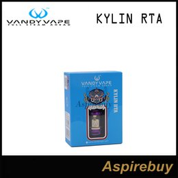 Wholesale insulated terminals - Vandyvape Kylin RTA 2ML with 6ML Extended Glass Tube Two PEEK-Insulated Positive Terminal Posts Dual Internal Airslots 100% Original