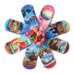 Wholesale Animal Print Booties - New Printed Cartoon animal Children Socks boys girl shorts Sock Baby Booties Ankle Socks Toddler Socks For Kids mixed color A617