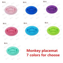 Wholesale Baby Food Plates - BPA free Kids Silicone Placemat for Food and Feeding Non-slip Junior Mat All-in-one Silicone Placemat Suction baby Plate -J01