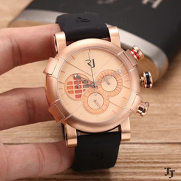 Wholesale Pc Display Glasses - Free Shipping 2017 High Quality ROSE GOLD WATCH DE LOREAN CHRONO STEEL 46 MM 81 PCS LIMITED EDITION DISPLAY Men watch