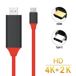 Wholesale hdtv phone - USB-C Type C USB 3.1 to HDMI 4k 2k HDTV Cable for Samsung Galaxy S8 S8+ Plus Cell Phone