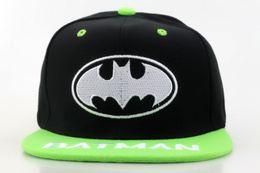 Wholesale Hiphop Boy Snapback - Kids Batman Snapback Hat Children Cartoon Snapbacks Hiphop Cap Boy Girl Summer Beach Sun Hats Cool Outdoor Caps