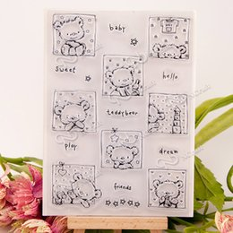 Wholesale Bear Photo Album - Wholesale- Bear animal New arrival Silicone Transparent Clear Stamp Seal for DIY scrapbooking photo album Decor stamp handwork art craft