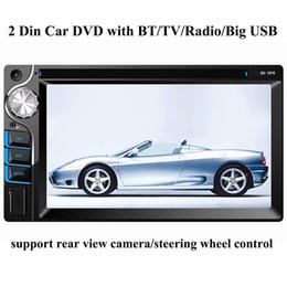 "Wholesale Head Unit Audio Tv - universal 2 Din 6.2"" inch Car DVD player with Bluetooth TV Big USB slot,audio Radio stereo, in-dash head unit video,hands-free calls"