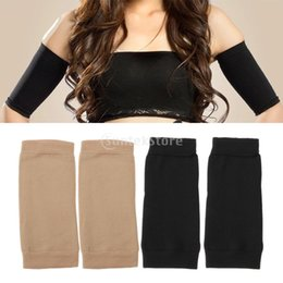 Wholesale Slimming Arm Shaper Sleeve - Wholesale- Compression Slim Arms Sleeve Shaping Arm Shaper Upper Arm Exercise Skin Black