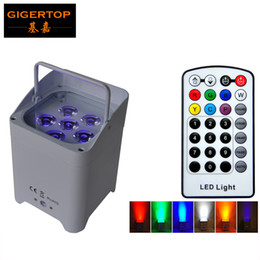 Argentina TIPTOP Inalámbrico Alimentado por Batería Uplights 6 6W 6in1 Led Par Light RGBWA + UV Slim Par Can Con IRC Para Decoración de Bodas TP-B06 Suministro