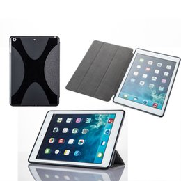 Wholesale Magnet Case Ipad Air - For iPad 9.7 inch 2017 PU Smart Cover Case Magnet Wake Up Sleep For iPad air Automatic Wake Sleep Magnetic Case