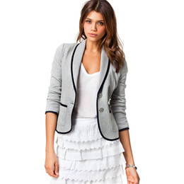 Blazer mujer Western new otoño 2017 modelos de explosión Slim párrafo corto chaqueta de traje pequeño solapa blazer feminino vestidos 1495 desde fabricantes