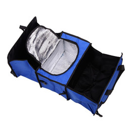 Wholesale Trunk Car Organizer - Auto Care Car trunk storage bag Oxford Cloth folding truck storage box Car Trunk Tidy Bag Organizer Storage Box with cooler bag