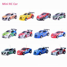 mini 4wd rc car prices - Wholesale- Hot Sale Mini Rc Coke Can Car 4WD 4CH Micro Poker Print High Speed Radio Remote Control Racing Car Toys With 12 Colors