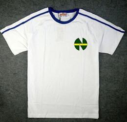 Wholesale Sport T Shirt Quick Dry - Fasion Men's T-Shirts Kojiro Hyuga Sport Captain Tsubasa Jerseys,ATOM t shirts blue white ATTON Men's T-Shirts