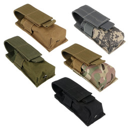 Wholesale Pistol Clips - Molle Tactical Clip Single Mag Magazine Pouch Open Top Pistol Cartridge Clip Pouch For USUG 30 Round