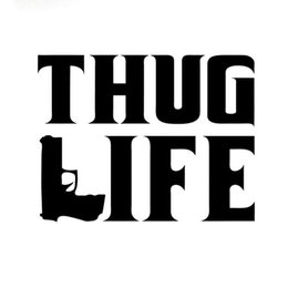 Wholesale El Gun - 15.2CM*12CM Thug Life Sticker Tupac gangster Funny Hater JDM Gun Decal Accessories
