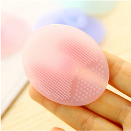 Wholesale Exfoliating Pads - Wholesale-Hot Selling Cleaning Pad Wash Face Facial Exfoliating Brush SPA Skin Scrub Cleanser Tool Remover Silicone Gel Pad Brush