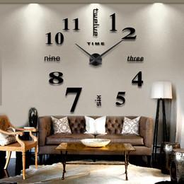navires cloches Promotion 2016 nouvelle arrivée 3d décor à la maison quartz bricolage horloge murale horloges horloge montre salon en métal miroir acrylique 20 pouce livraison gratuite