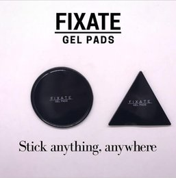 Wholesale Designs Tapes - 2Pcs Reuseable Fixate Gel Pad 1Set=1 Round + 1 Triangle Magic Sticker Strong Adhesive Gel Pad Moveable Wall Hook Tape Stikk Free Ship